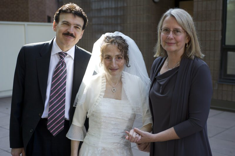 Drs. Rubin and Anderson on Judy Fettman's wedding day in 2012