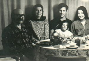 Judy Fettman, as a baby, with family